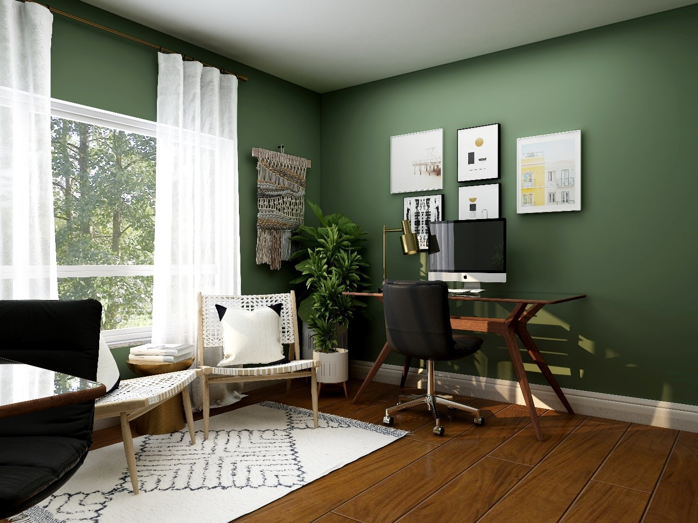 You will be calm, serene and productive if you create an oasis of calm in your home office