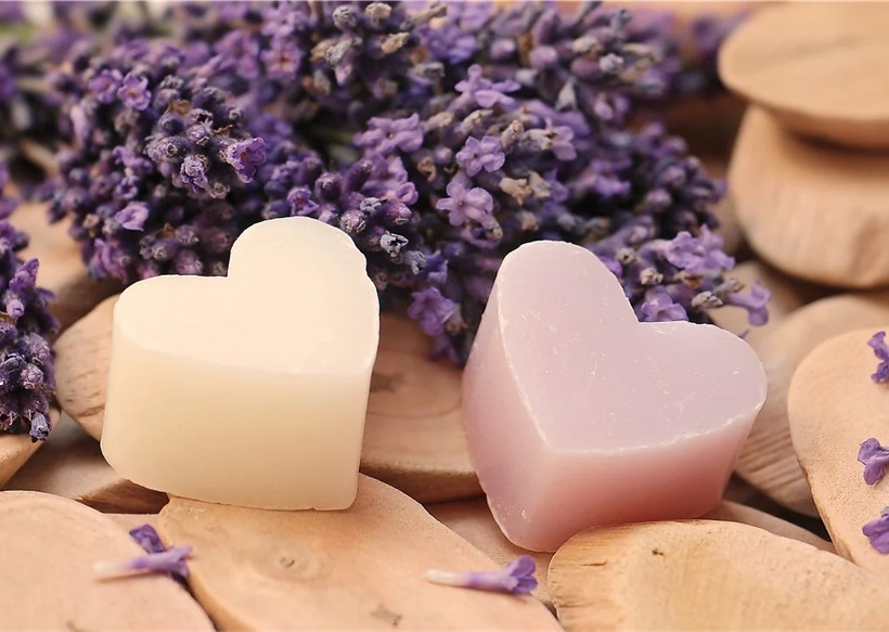 Lavender can be used in soap