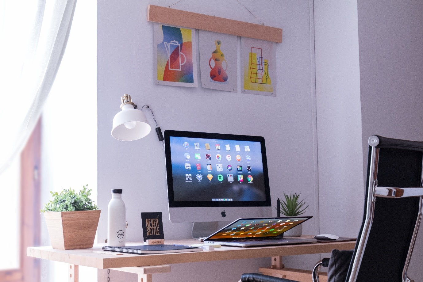 Organise your home office furniture
