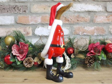 Santa Christmas Wooden Duck 36cm tall