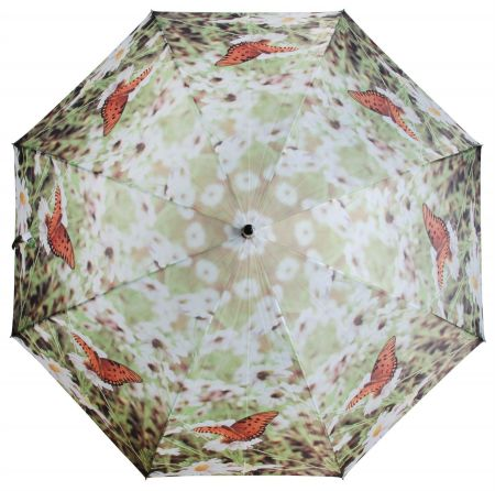 Large Umbrella with Nature Picture. Butterfly . 120cm diameter
