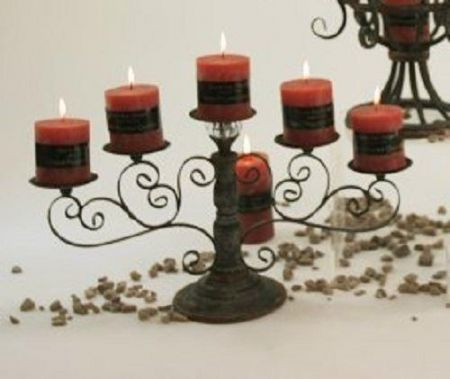 Five Branch Candelabra with Rustic Style
