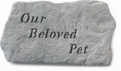Our Beloved Pet Memorial Stone 28 x 15cm approx