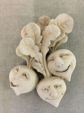Rowdy Red Radishes Home & Garden Ornament Made from Reconstituted Stone