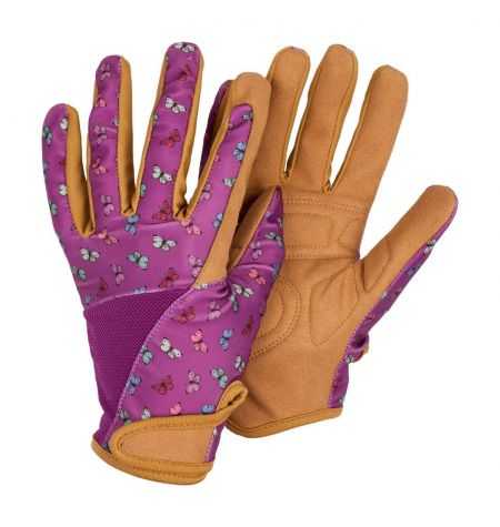 Professionelle Gardening Gloves from Briers Butterfly Print in Pink. Medium