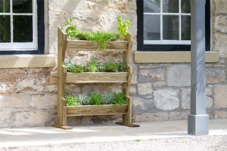 Wooden Vertical Herb Stand
