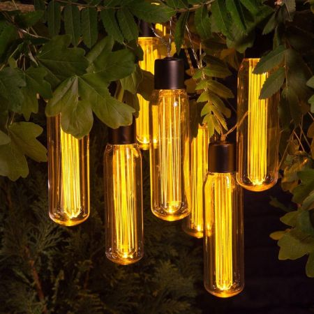 Outdoor Vintage Valve Light Bulb Light String of 10  Battery Operated 1016010