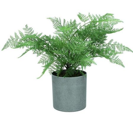 Ming Fern Artificial Plant in a Stone Pot 45cm tall