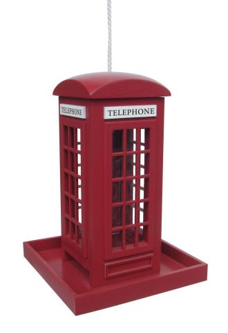Wild Bird Feeder in the shape of a Red Telephone Box British Designed