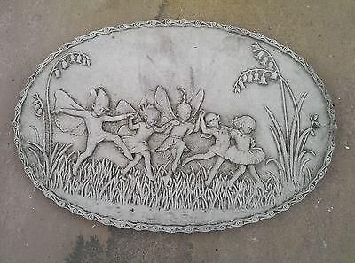 Elf Plaque Garden Wall Ornament. Reconstituted stone.  Superb Details. PQ13