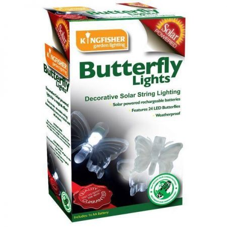 24 LED Solar Butterfly or Dragonfly Lights