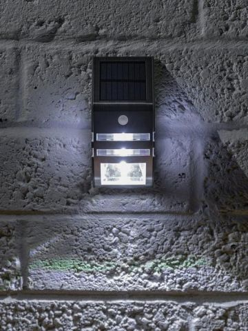 Solar Security Wall Light with PIR 50 Lumen