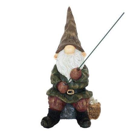 Garden Gnome with Fishing Rod