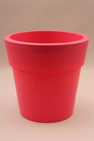 Plastic Flower Pot Shape Planter PINK 24cm diameter. Indoors or Out