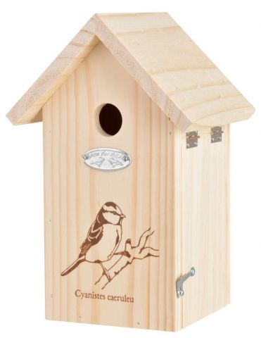 Great Tit Bird House Nest Box Made from Wood