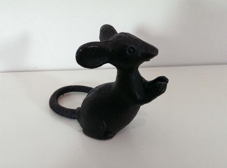 Cast Iron Mouse Ornament 9cm. Great for a Cheeseboard