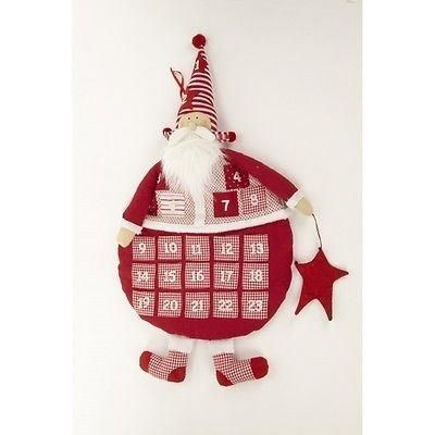 Large fabric Santa Advent Wall Hanger.  80cm