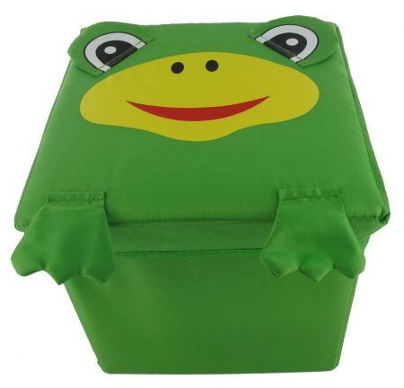 Foldable Fun Storage Box / Seat for a Child. FROG