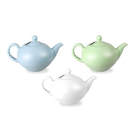 Large Plastic Teapot Watering Can (Pale Blue)