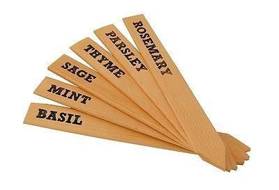 Burgon and Ball Large Wooden Herb Labels x 6 different.