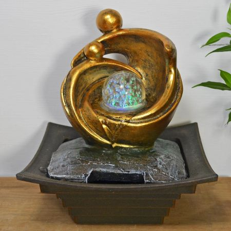 Modernist Mother & Child or Couple Sculpture Indoor Fountain Water Feature