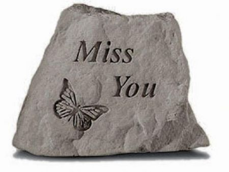 Miss You Memorial Stone. 8 x 9cm approx