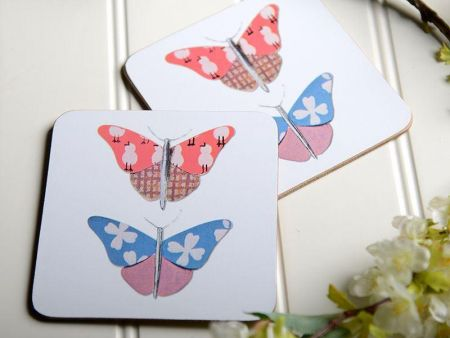 V&A Butterfly Charm Placemats & Matching Coasters. Set of 4 of each