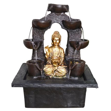 Gold Buddha Indoor Fountain with LED light