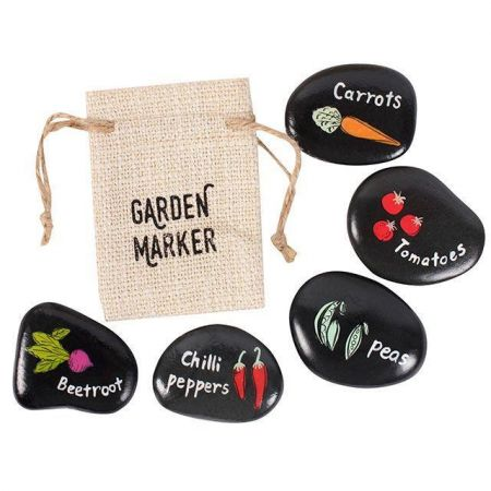 Hand Painted Garden Stone Vegetable Marker - BEETROOT
