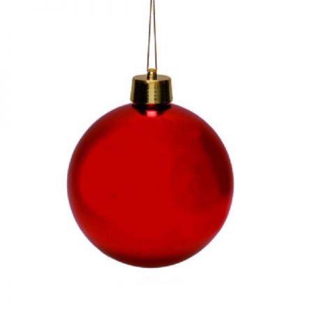 Outdoor Large Christmas Bauble x 2. (Red) 15cm in diameter
