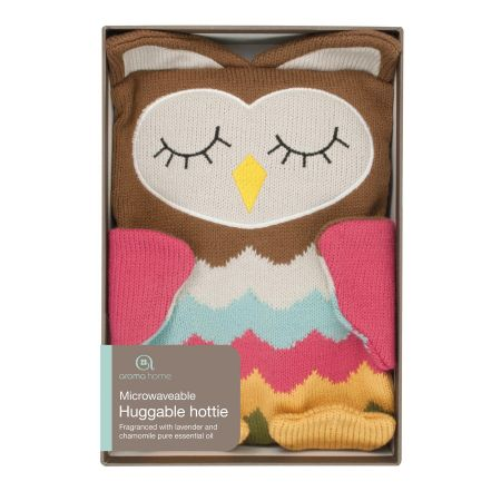 Knitted Microwavable Warming Hotties with Lavender Fragrance. Adult Size OWL