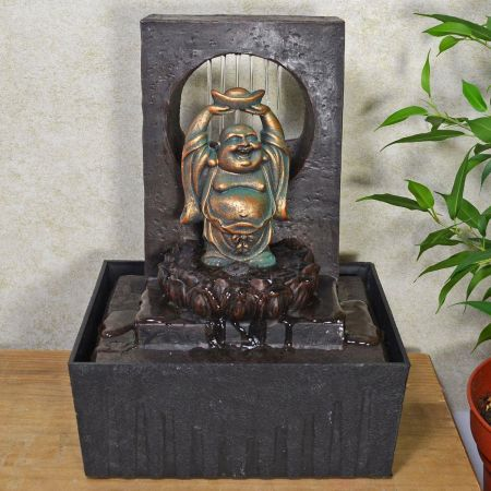 Happy Buddha Indoor Fountain Water Feature