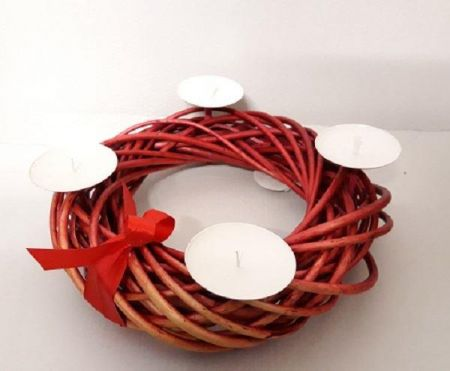 Red Willow Candle Ring / Candle Holder Table Decoration. *SECONDS*