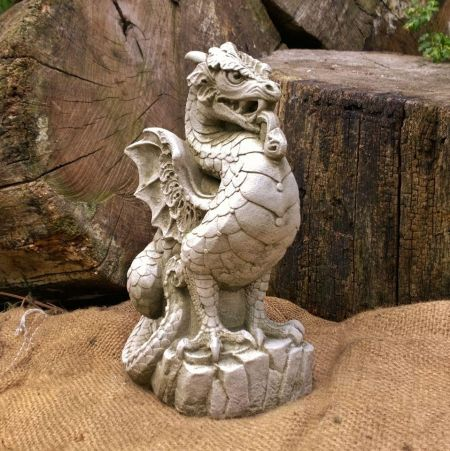 Scaly Dragon Garden Ornament Made from Reconstituted Stone DN2