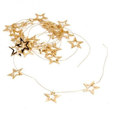 Metal Star Garland. Gold or Silver. 200cm. BUY ONE GET ONE FREE