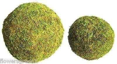 Padded Moss effect Ball x 2.  Great for making holly balls - 8""
