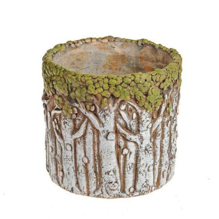 Enchanted Trees Round Planter Plant Pot Made from Concrete
