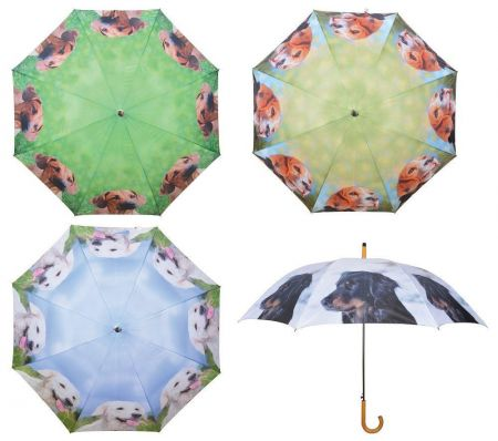 Large Umbrella with Dog Pictures on. 120cm diameter brolly