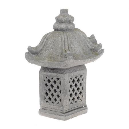 Oriental Stone Pagoda Lantern Garden Statue with LED lights