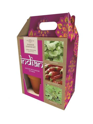 Indian Themed Growing Gift Set with Seeds, Pots and Compost