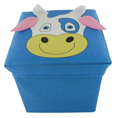 Foldable Fun Storage Box / Seat for a Child. COW