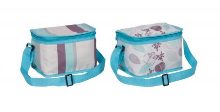 Insulated Cool Bag 6 Can Capacity with Adjustable Carry Strap LEAVES