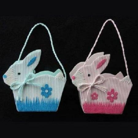 Easter Bunny Baskets by Gisela Graham x 2