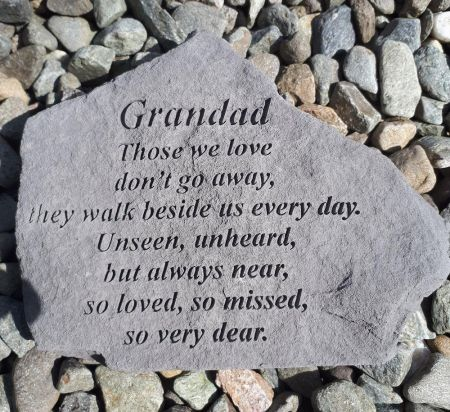 Beloved Grandad - Those we love Memorial Stone. 18 x 14cm approx