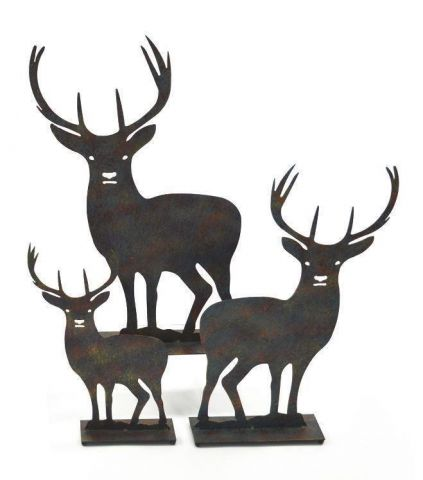 Metal Stag Statue for Garden or Indoors  Large Size 48cm tall