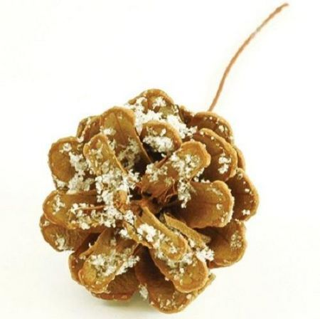 Frosted fir cone Christmas picks x 10.   Great for wreaths