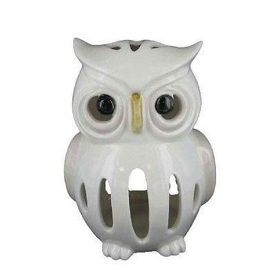 Porcelain ceramic white Owl Tealight Candle Holder