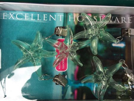 Tablecloth Weights made from coloured plastic.  MINT STARFISH
