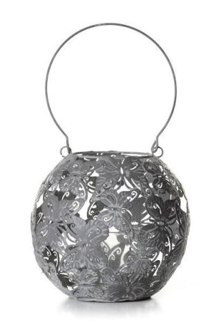 Round Metal Butterfly Lantern with Hanging Handle in large size