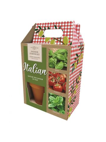 Italian Themed Growing Gift Set with Seeds, Pots and Compost